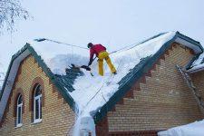 Клининговые услуги по очистке кровли от снега