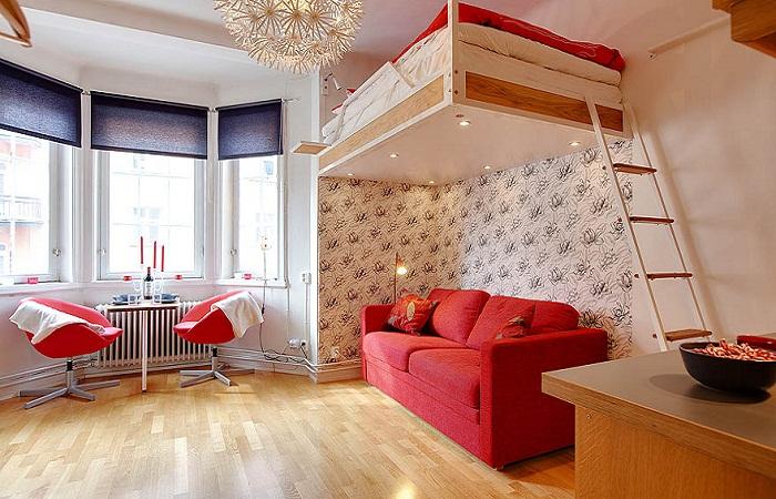 Размещение кровати под потолком – экономим пространство