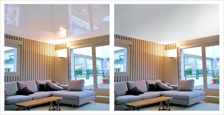 Как выбрать матовые натяжные потолки