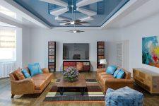 Монтаж двухуровневых натяжных потолков для зала