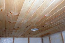 Потолок в бане