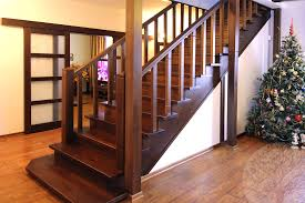 Дубовые лестницы в интерьере