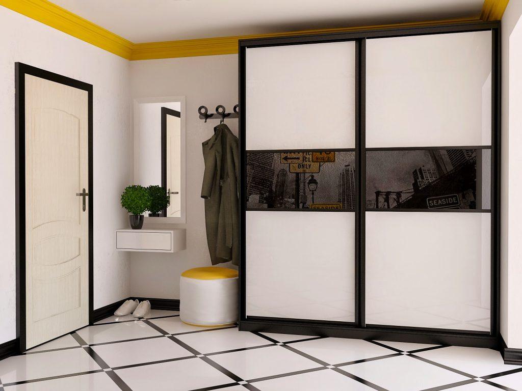 Шкафы-купе с пескоструйным и тканевым рисунком