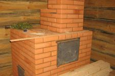 Печка для бани из кирпича