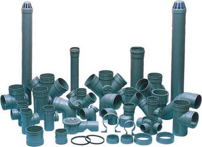 Виды канализационных труб и соединений