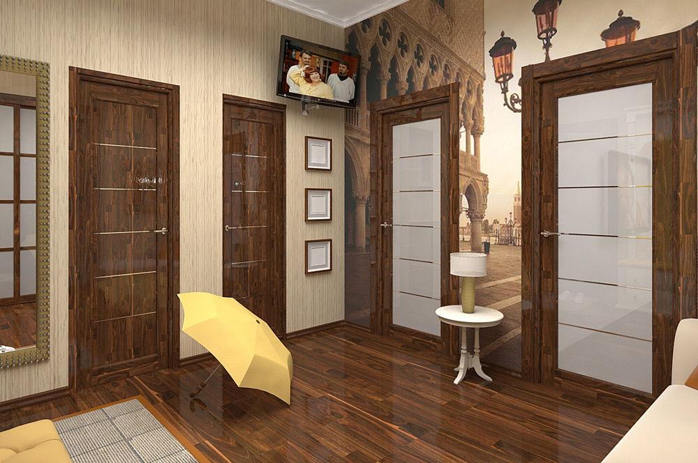Выбор цвета для межкомнатных дверей