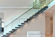 Стеклянные ограждения для лестниц частных домов и двухэтажных квартир