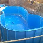 Монтаж бассейнов из полипропилена