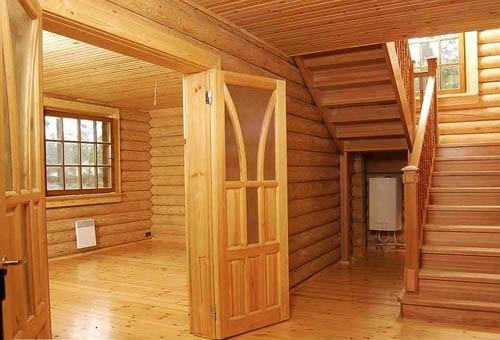 Как производится внутренняя деревянная отделка