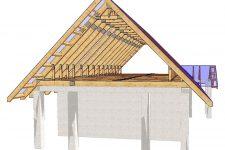 Виды стропильных систем для двухскатной крыши