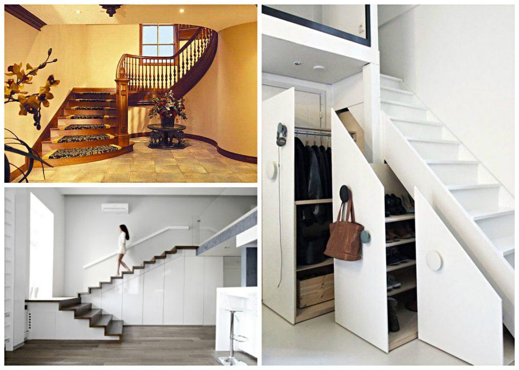 Как устроить пространство под лестницей