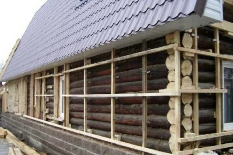 Вентилируемый фасад для бревенчатого дома