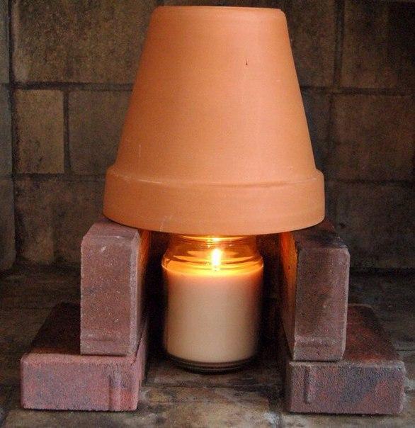 Как обогреть комнату одной свечой