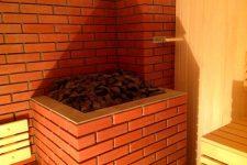 Поэтапное изготовление печи из кирпича для бани