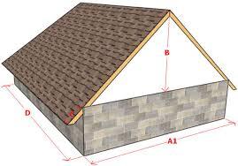 Как рассчитать высоту крыши дома