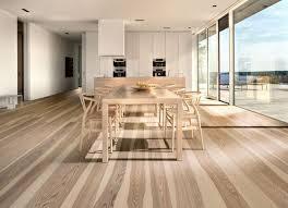 Полы на кухне из натурального дерева и ламината