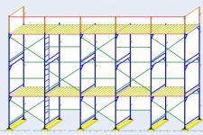 Требования к установке строительных лесов из стальных труб