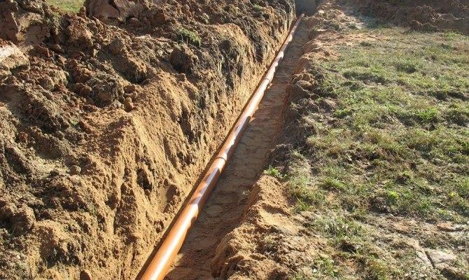 Угол наклона канализационной трубы