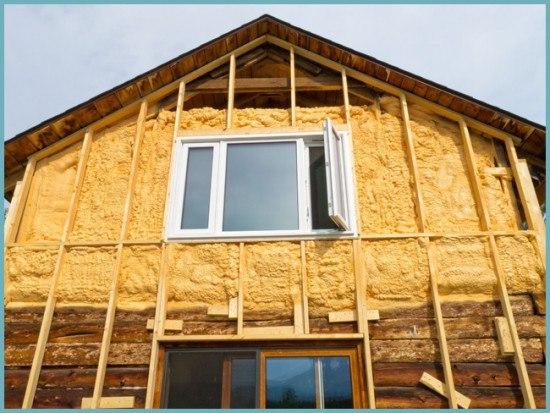 Утеплить наружные стены деревянного дома