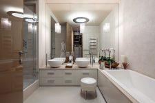 Свет в оформлении ванной комнаты