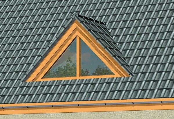 Конструкция слухового окна на крыше