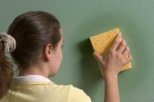 Выведение пятен с покрашеных стен