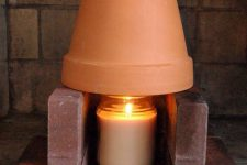 Как обогреть комнату одной свечой?