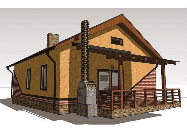 Проект одноэтажного загородного дома «Бюджетный-1″