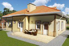 Типовой проект одноэтажного жилого дома «Роща»