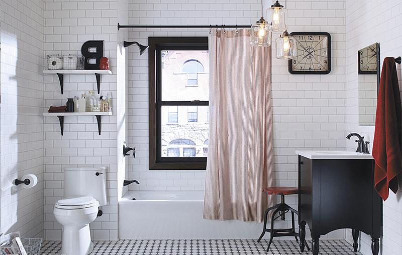 Как украсить ванную комнату: просто и красиво. Текстиль от Marie Claire.