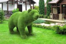 Каркасные садовые фигуры своими руками
