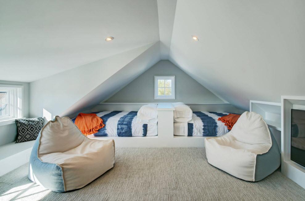 Как оформить дизайн комнаты с помощью бескаркасной мебели?