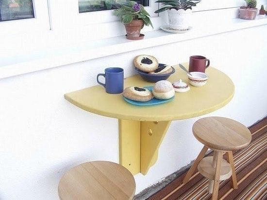 Складной столик для балкона своими руками