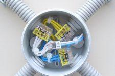 Соединение проводов в распредкоробке