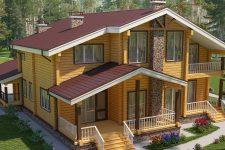 Коттеджные дома по индивидуальному проекту