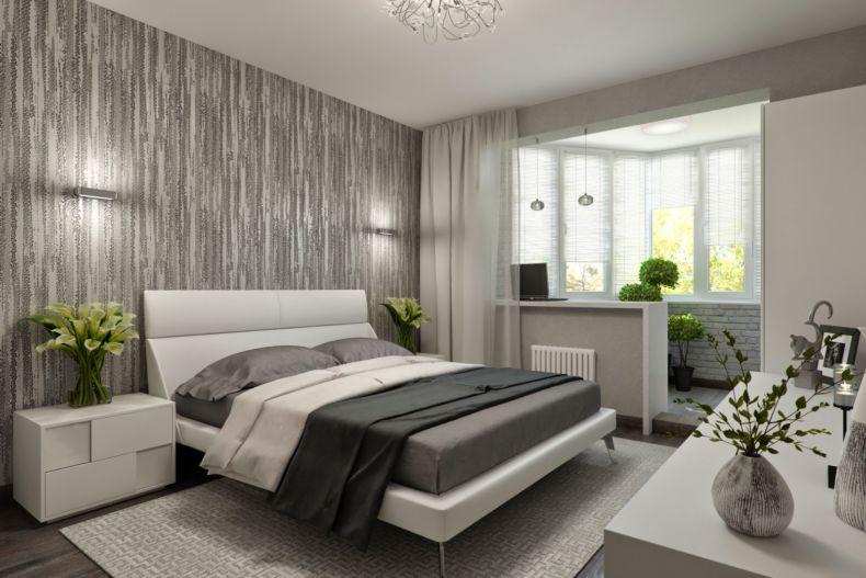 Интерьер маленькой спальни