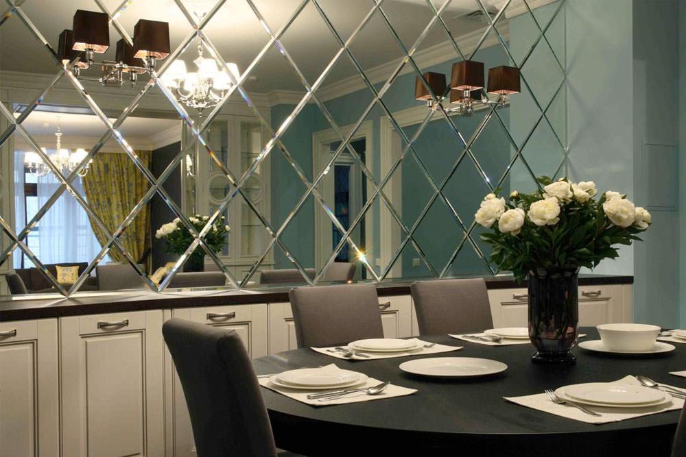 Использование зеркальных поверхностей в интерьерах
