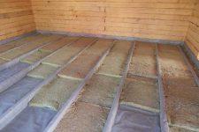 Как обустроить деревянный пол на лагах с теплоизоляцией