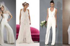 Свадебный брючный костюм для невесты