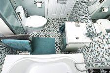 Организация пространства небольшой ванной комнаты