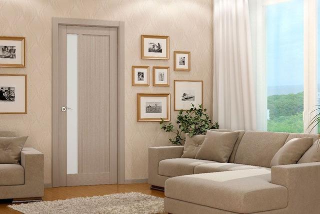 Установка шпонированных дверей