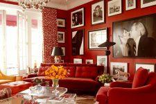 Красный цвет и его сочетания в интерьере