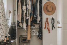 Идеи для маленькой гардеробной
