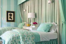 Мятные оттенки в комнате: способы оформления