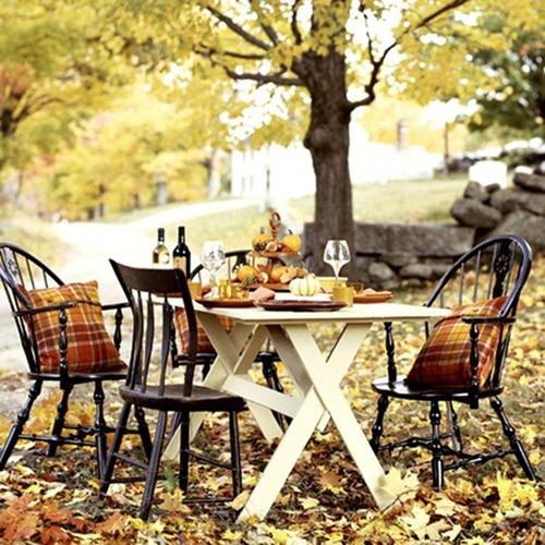 Красивое в мелочах: идеи декора для осеннего пикника в саду