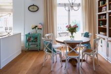 Макраме в столовой: интерьер с ретро-декором