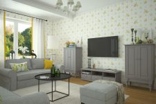 Каркасно-щитовой дом: интерьер дачи