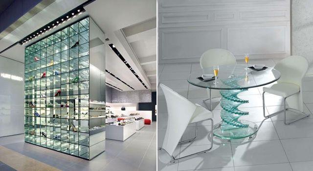 Использование стекла в оформлении жилища