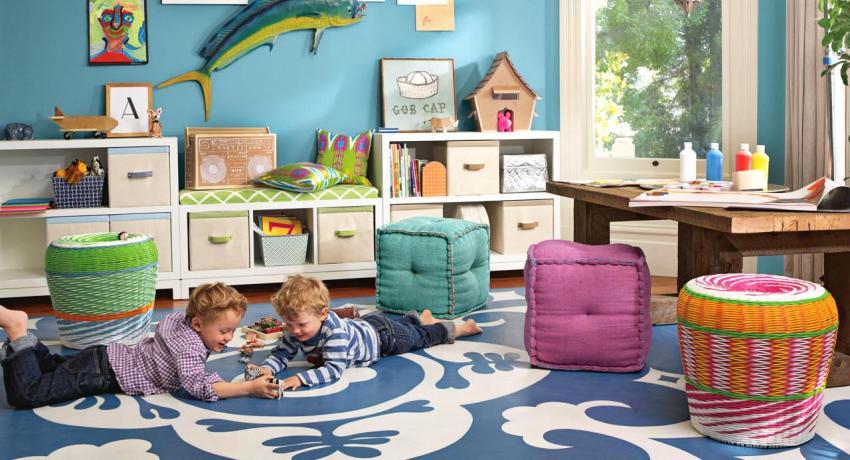 Детская комната для двоих детей: варианты планировки
