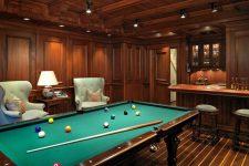 Дизайн бильярдной комнаты: создаем роскошную игровую в собственном доме